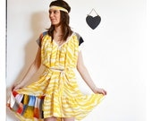Caravan Folly dress in yellow print