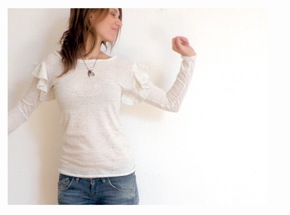 TOtal SaLE 40% off - Chai frill sleeve knit sweater
