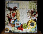 Premade Fall Family Thanksgiving Scrapbook Layout