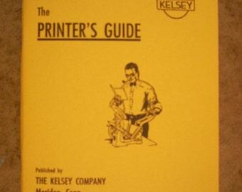 Kelsey letterpress instruction booklet vintage images