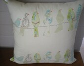 FREE SHIPPING- Birds on a Wire Cushion Cover