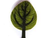 Tree brooch - illustrated badge
