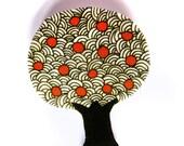 Apple tree brooch badge pin