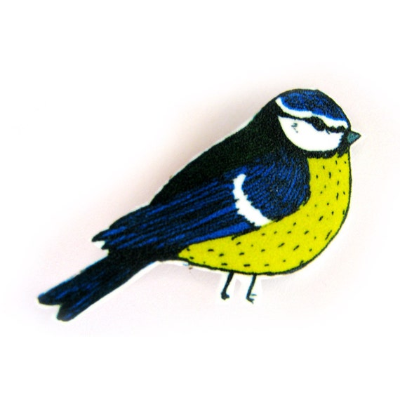 Blue Tit - Bird brooch
