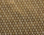 copper and light beige small motifs brocade - fat quarter - br003