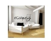 Decorative Vinyl Lettering-escape