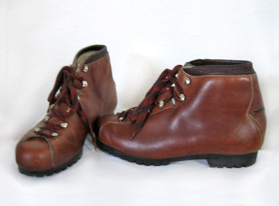 vintage leather hiking boots rieker germany 1970s size