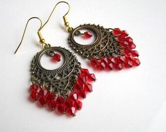 Long red chandelier earrings red crystal chandelier earrings red crystal chandelier earrings red chandelier earrings red earrings aloadofball Gallery