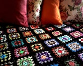 Curl Up and Be Warm Granny Square Afghan Blanket