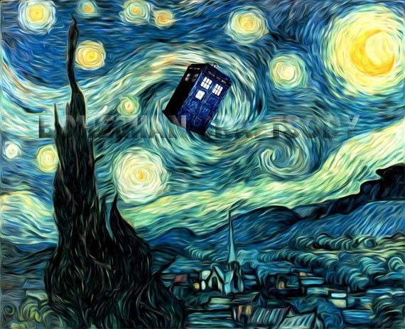 Van Gogh Starry Night Tardis Doctor Who Van Gogh Starry