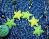 Glow in the dark stitchmarkers blue moon