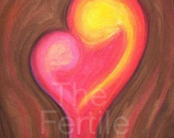 Fertility Artwork, A Mothers Love, Inspiring, Positive art, Pregnancy Imagery, Hope, Pregnant Mother, Infertility, TTC, Mother's Day Sale