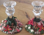 Christmas candlestick holders