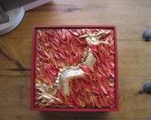 Red Lucky Dragon Keepsake Box