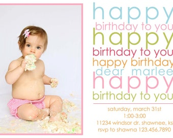 Birthday Song Invitation