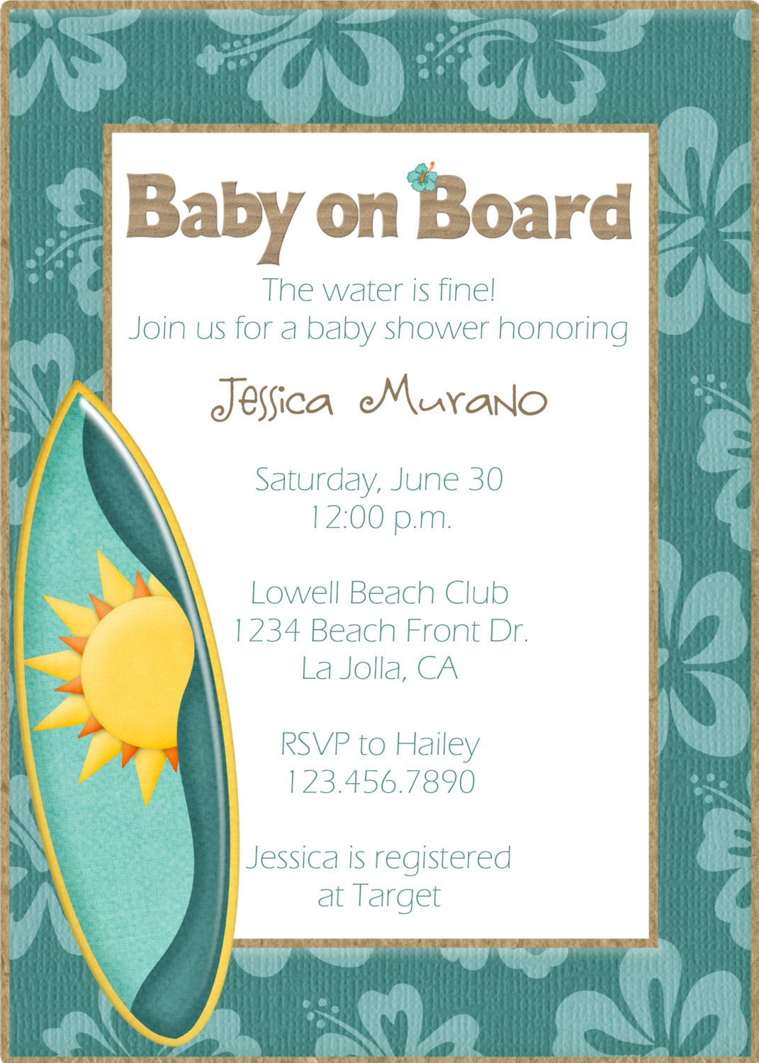 Beach Theme Baby Shower Invitations can inspire you to create best invitation template