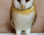 Needle felted life size Barn owl ( reserved for Carey)