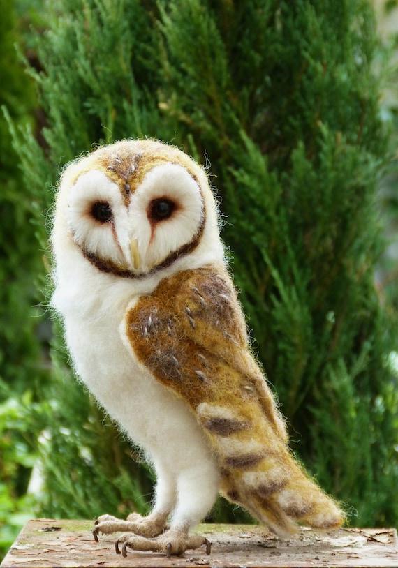 Life size Needle felted life size Barn owl