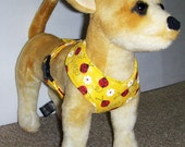 Comfort Soft Walking Harness for small dog Ladybug - Made to Order -