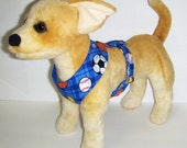 Sports theme Comfort Soft Dog Harness. - Made to order -