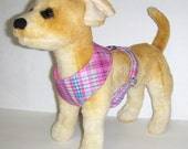 Comfort Soft Harness for Small Dog, Pink, Plaid. (Last One)