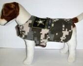 U S Army Camoflauge Dog Harness-Vest  Coat.