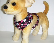 Love Heart Comfort Soft Dog Harness - Made to Order -