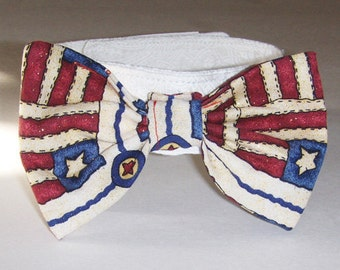 Patriotic  Bow Tie for your fur baby (dog or cat)