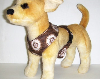Comfort Soft Harness for Small Dog Medallions brown - Made to Order -