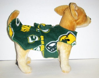 Packers Harness-Dress for Small Dog fleece.