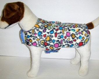 Multi color Leopard Dog Harness-Vest