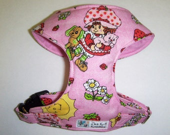 Strawberry Shortcake Comfort Soft Dog Harness  - Made to Order -