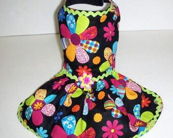 Patch Work Flower Harness Dress.