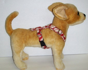 Adjustable Harness for Small Dog, Baseball,