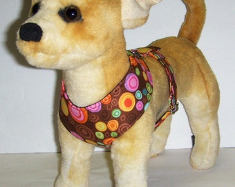 Comfort Soft Harness for Small Dog. - Made to Order -