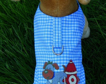 Embroidered Dog Harness Vest , Fire Hydrant.