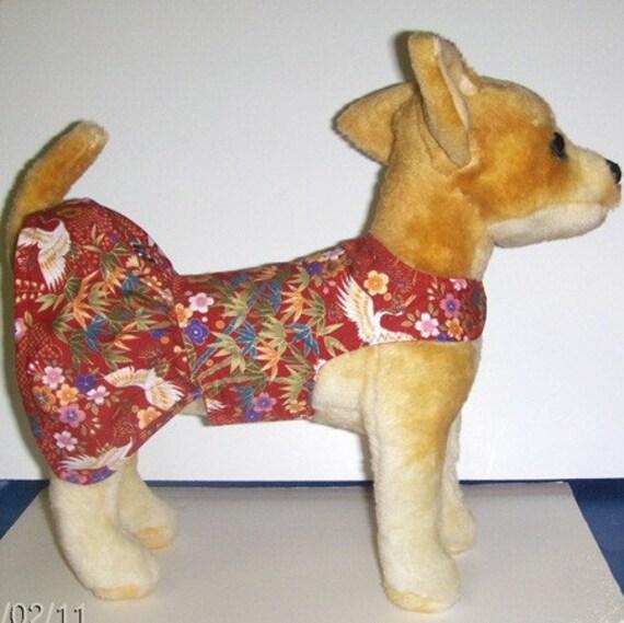 Oriental Theme Harness - Dress for Tiny Dog (LAST ONE)