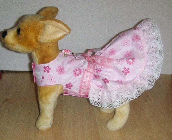 Flowered Harness-Dress for Small dog (Last One)