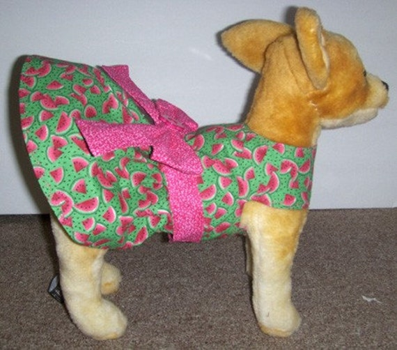 Watermelon Harness-Dress for Small Dog