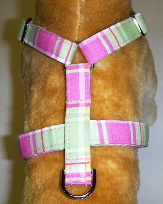 Adjustable Dog Harness Plaid