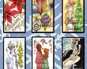 "Digital Images Collage Sheet - Clip Art Elements- Digital Scrapbooking- ""Seasons Greetings"" Gift Tag"