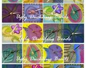 Digital Collage Sheet - Original Art Work- Clip Art Elements- Digital Scrapbookin-Whimsical Clocks