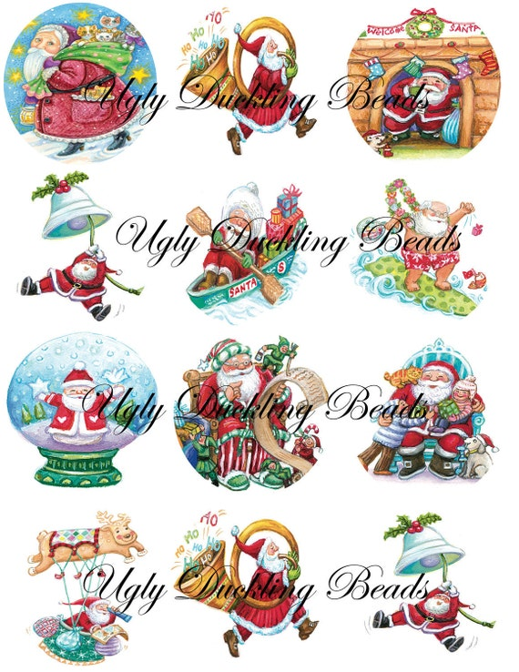 "Digital Images Collage Sheet - Clip Art Elements- Digital Scrapbooking- ""It's All About Santa"""