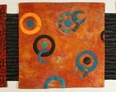 Handmade Art Quilt - Orange Zen