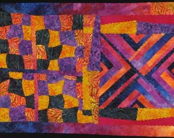 Handmade Art Quilt - BATIK FUSION