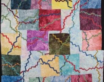 Handmade Art Quilt - FRACTURED