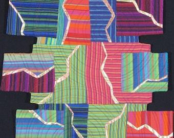 Handmade Original Art Quilt - FRACTURED STRIPES