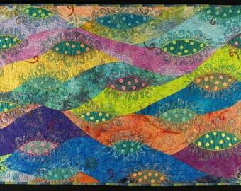 Handmade Art Quilt - AMOEBA