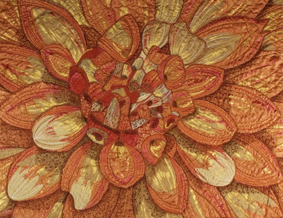Handmade Art Quilt - Big Floral
