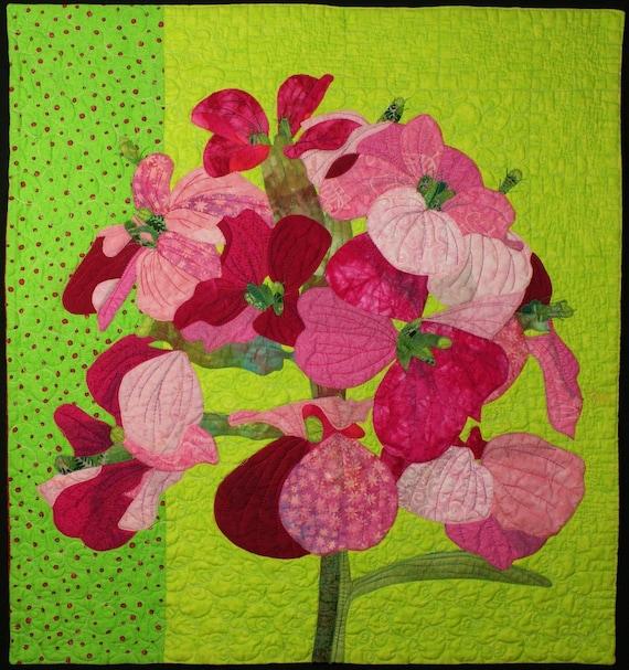Handmade Art Quilt - Wallflower